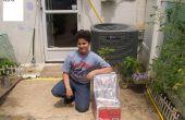 BRICOLAJE Solar calentador de alimentos fabricado con materiales reutilizados.