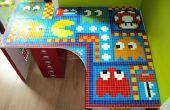 Mesa de mosaico de azulejo Pacman
