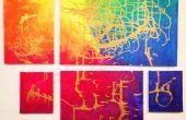 ¿Arco iris metálico pared arte