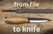 De archivo a cuchillo (con las herramientas simples)