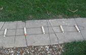 Paracord escalera con peldaños de madera