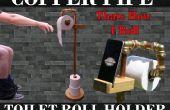 Cobre tubo Portarrollos y soporte de teléfono