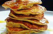 Desayuno libre de Gluten de 10 minutos: saludable esponjosos Pancakes de harina menos