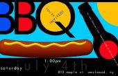 Hacer un cartel de invitación fiesta barbacoa coloridos en Photoshop