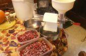 Gelatina frambuesa orgánica casera sin azúcar endulzado con miel.