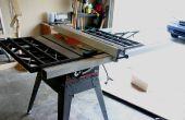 Retrofitting A Delta T2 cerca a una sierra de mesa Craftsman