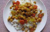 Tajine de garbanzos y zanahoria