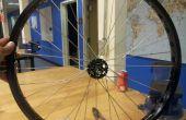 @TechShop Menlo Park: una rueda de bicicleta del edificio