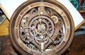 Engranaje de madera reloj de banjo