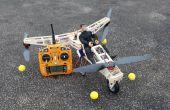 Tricopter de hombre de acción.