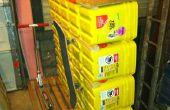 Reutilizar el estante del almacenaje del cubo gatos