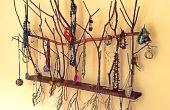 Collar árbol pared arte