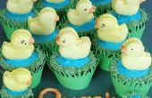 Quackaroons: pato cupcakes macarons y charca