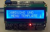 Plantilla de menú Arduino Uno
