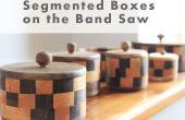 Cómo hacer cajas segmentadas en la sierra