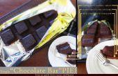"""Triple """"Chocolatina"""" pastel (pastel de Chocolate en forma de una barra de Chocolate)"""