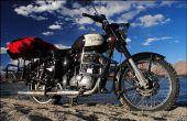 Lado de portaequipajes de la motocicleta