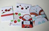 5 Navidad y año nuevo regalo tarjetas manualidades de papel DIY Ideas - presenta fácil y asequible -