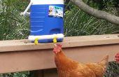 Bebedero para pollo usando los accesorios eléctricos y refrigerador