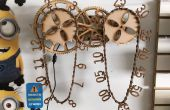 Reloj madera cadena
