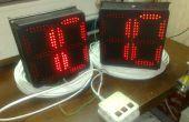 Muestra del LED, contadores, signos de ad
