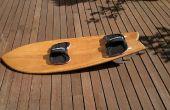 Hueco kitesurfboard de madera