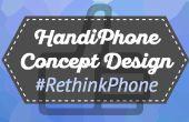 Diseño del teléfono Conceptual HandiPhone