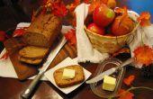 Pan de sidra de manzana con trocitos de manzana especiado