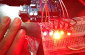 Sensor capacitivo con gráfico de barras