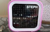 Personalizar Word Clock con transiciones de tiempo animado