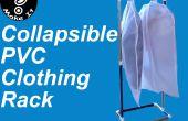 Hacer un estante de ropa portátil y plegable de PVC de 10 dólares en menos de una hora