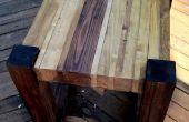 Chatarra madera mesas