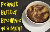 Mantequilla de cacahuete Brownie en una taza!