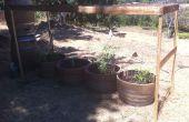 Jardín de cañón de riego gravedad