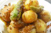 Receta de pickles de cebolla (Pyaaz Ka Achaar)