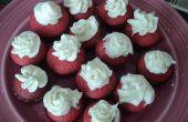 Mini pasteles de Copa de terciopelo rojo