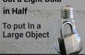 Cómo cortar una bombilla en la mitad
