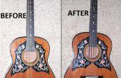 Guitarra acústica a la conversión de bajo acústico