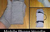 Teléfono móvil con capucha y guantes de mensajes de texto
