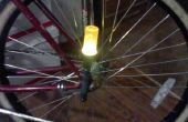 Twacked luz de la cola para un igualmente twacked bicicleta