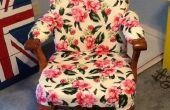 Silla Vintage Vintage Flair (tapizado de una silla de madera)