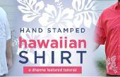Mano estampada camisa Hawaiian