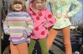 Polainas de lujo para los más pequeños!  Un proyecto de reasignación costura dos suéter