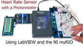 Monitor de ritmo cardiaco usando un fotoresistor
