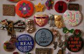 Clavijas Vintage botón arte de la pared