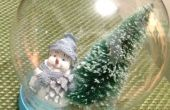 Globo de nieve Glitter DIY