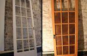Cobre con paneles de puerta francesa