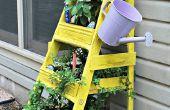 Plantador del jardín de la hierba escalera