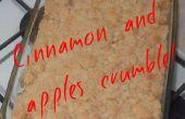 Crumble de canela y manzanas