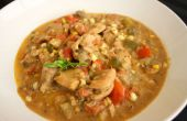 Sopa de verduras de pollo